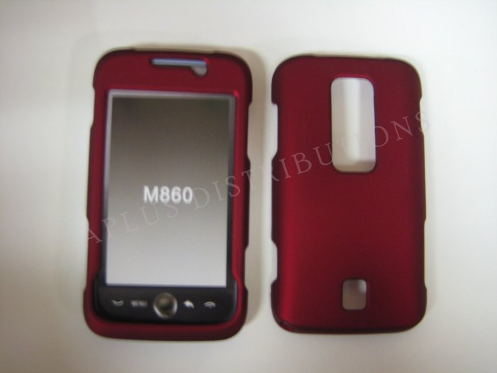 New Red Rubberized Design Hard Protective Cover For Huawei Ascend M860 - (0054)