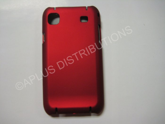 New Red Rubberized Hard Protective Cover For Samsung Galaxy S I9000 - (0054)