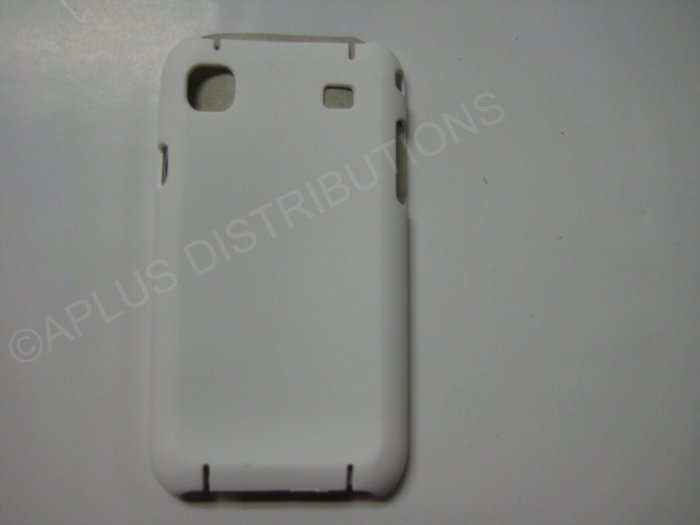 New White Rubberized Hard Protective Cover For Samsung Galaxy S I9000 - (0052)