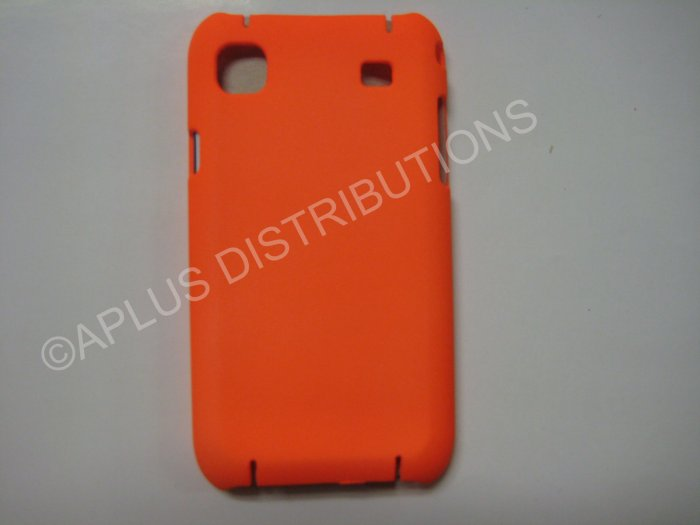 New Orange Rubberized Hard Protective Cover For Samsung Galaxy S I9000 - (0069)