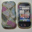 New Multi-Color Abstract Triangle Bling Diamond Case For Motorola Cliq MB200 - (0008)