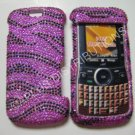 New Hot Pink Zebra Design Bling Diamond Case For Motorola Clutch I465 - (0003)