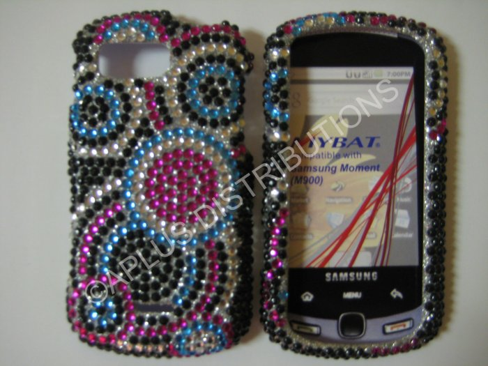 New Multi-Color Multi Circles Bling Diamond Case For Samsung Moment M900 - (0018)