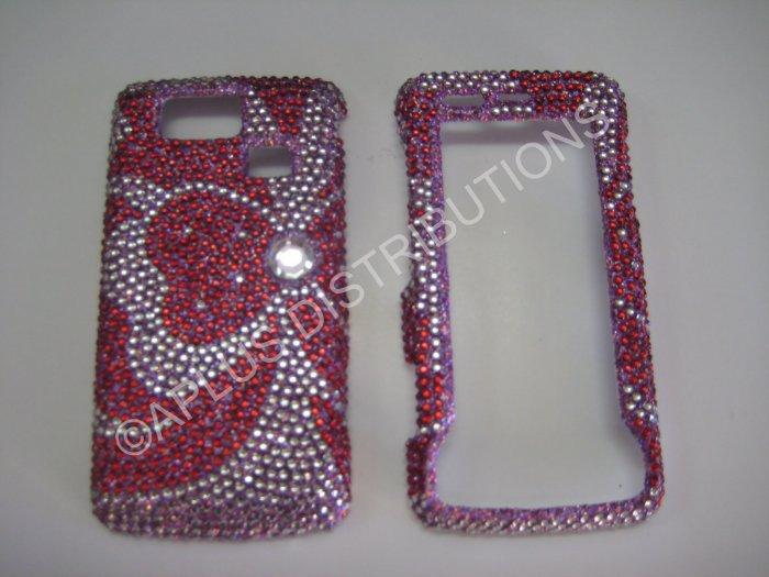 New Pink Clover Bling Diamond Case For LG Versa Vx9600 - (0013)
