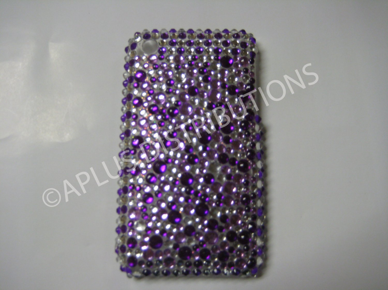 New Purple Multi-Diamonds Design Crystal Bling Diamond Case For iPhone 3G 3Gs - (0016)