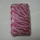 New Hot Pink Zebra Design Crystal Bling Diamond Case For iPhone 3G 3Gs - (0027)