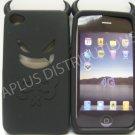 New Black Devil Design Silicone Cover For iPhone 4 - (0091)