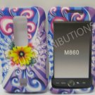 New Rubberized SunFlower Design Hard Protective Cover For Huawei Ascend M860 - (0043)
