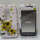 New SunFlower w/Butterfly Design Hard Protective Cover For Huawei Ascend M860 - (0044)