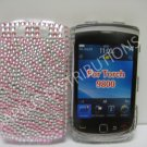 New Pink Zebra Design Bling Diamond Case For Blackberry 9800 - (0132)