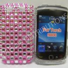 New Hot Pink Retro Series (Checkered Pattern) Bling Diamond Case For Blackberry 9800 - (0069)