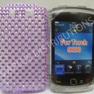 New Purple Transparent Pearls Bling Diamond Case For Blackberry 9800 - (0154)