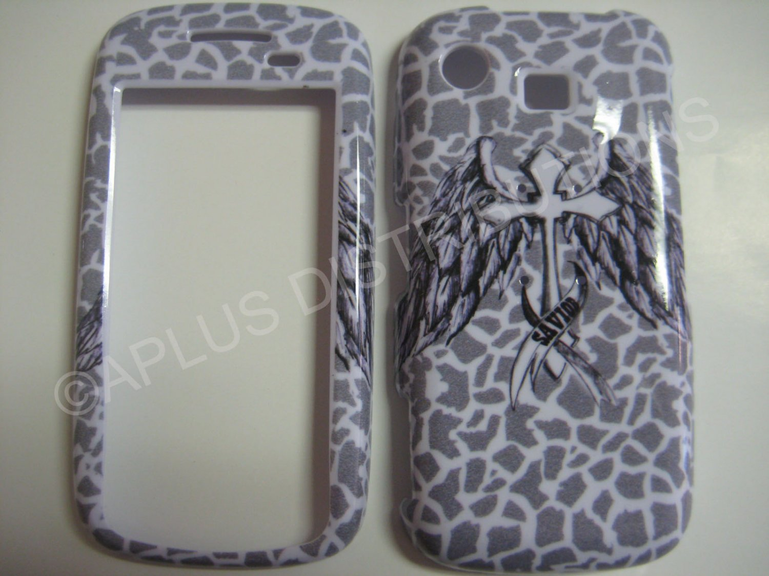 New Gray Savior Wings Hard Protective Cover For Samsung Impression A877 - (0019)