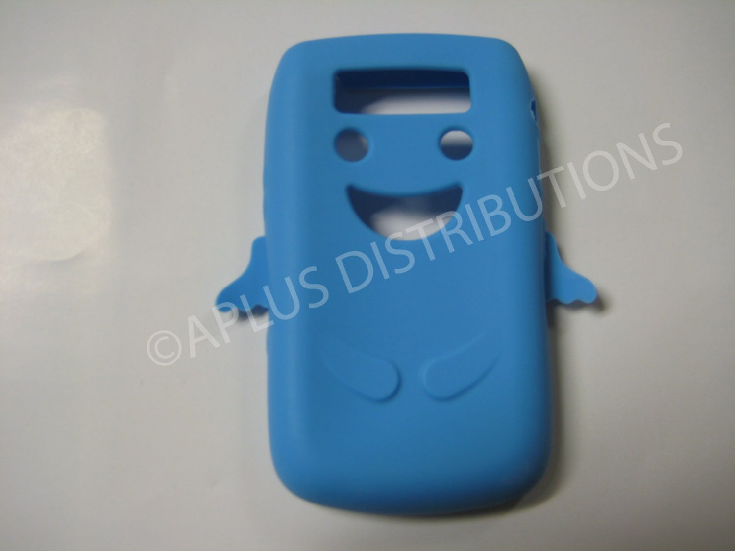 New Light Blue Angel Design Silicone Cover For Blackberry 9700 - (0184)