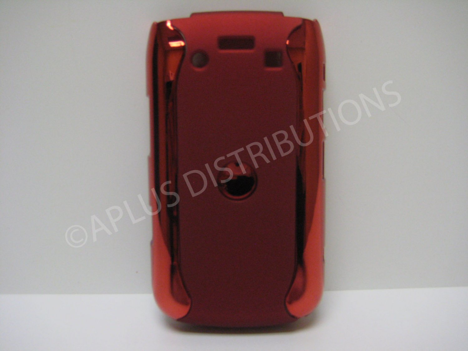 New Red Metallic Two Piece Design Hard Protective Cover For Blackberry 9700 - (0119)