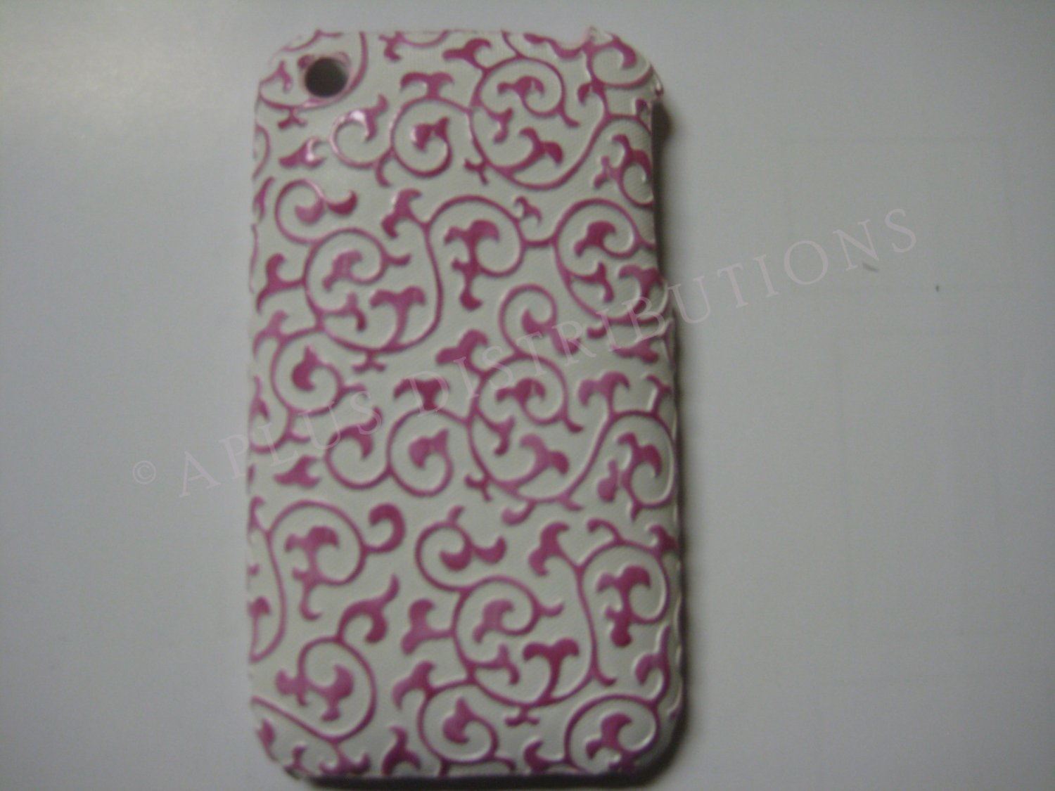 New Pink Princess Swirl Design Hard Protective Cover For iPhone 3G 3GS - (0026)