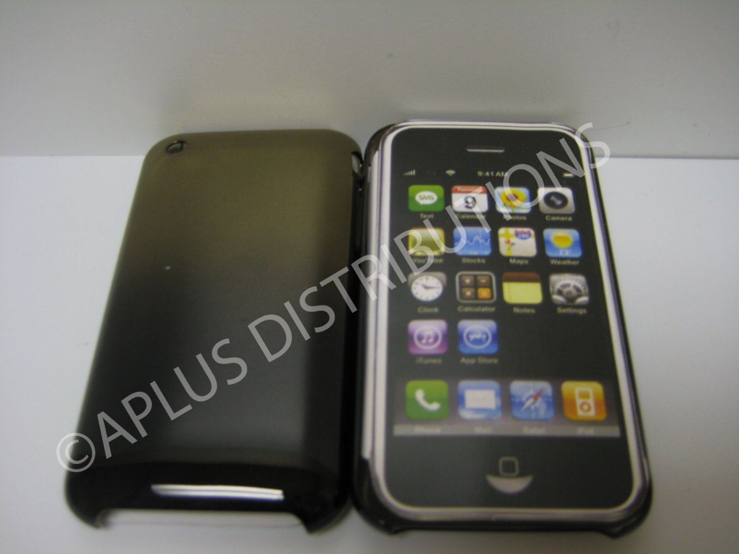 New Black Chrome Sun Design Hard Protective Cover For iPhone 3G 3GS - (0076)
