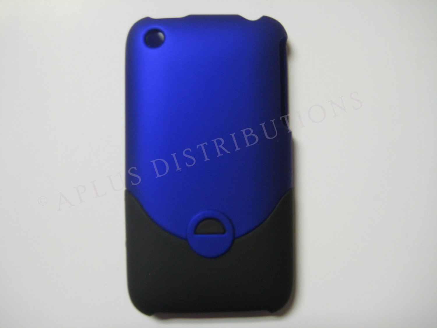New Dark Blue Rubberized Slider Design Hard Protective Cover For iPhone 3G 3GS - (0095)