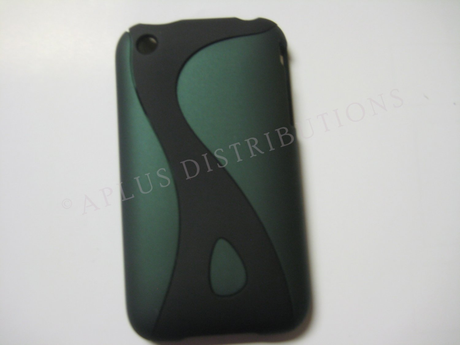 New Dark Green Rubberized Twist Design Hard Protective Cover For iPhone 3G 3GS - (0100)