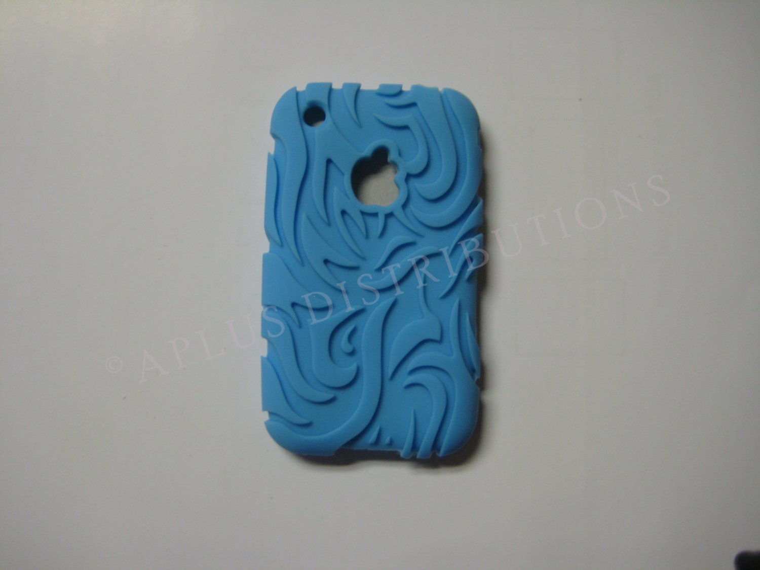 New Light Blue Tribal Design Silicone Cover For iPhone 3G 3GS - (0046)