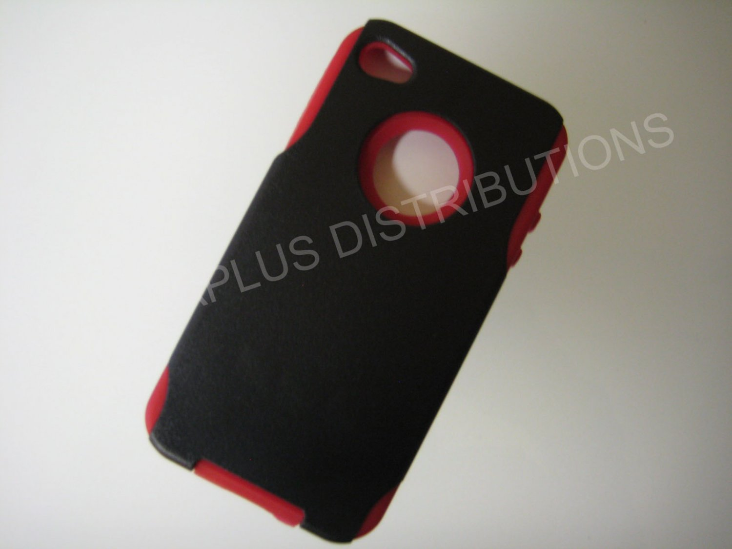 New Red Hard And Soft Design Hard Protective Cover For iPhone 4 - (0158)