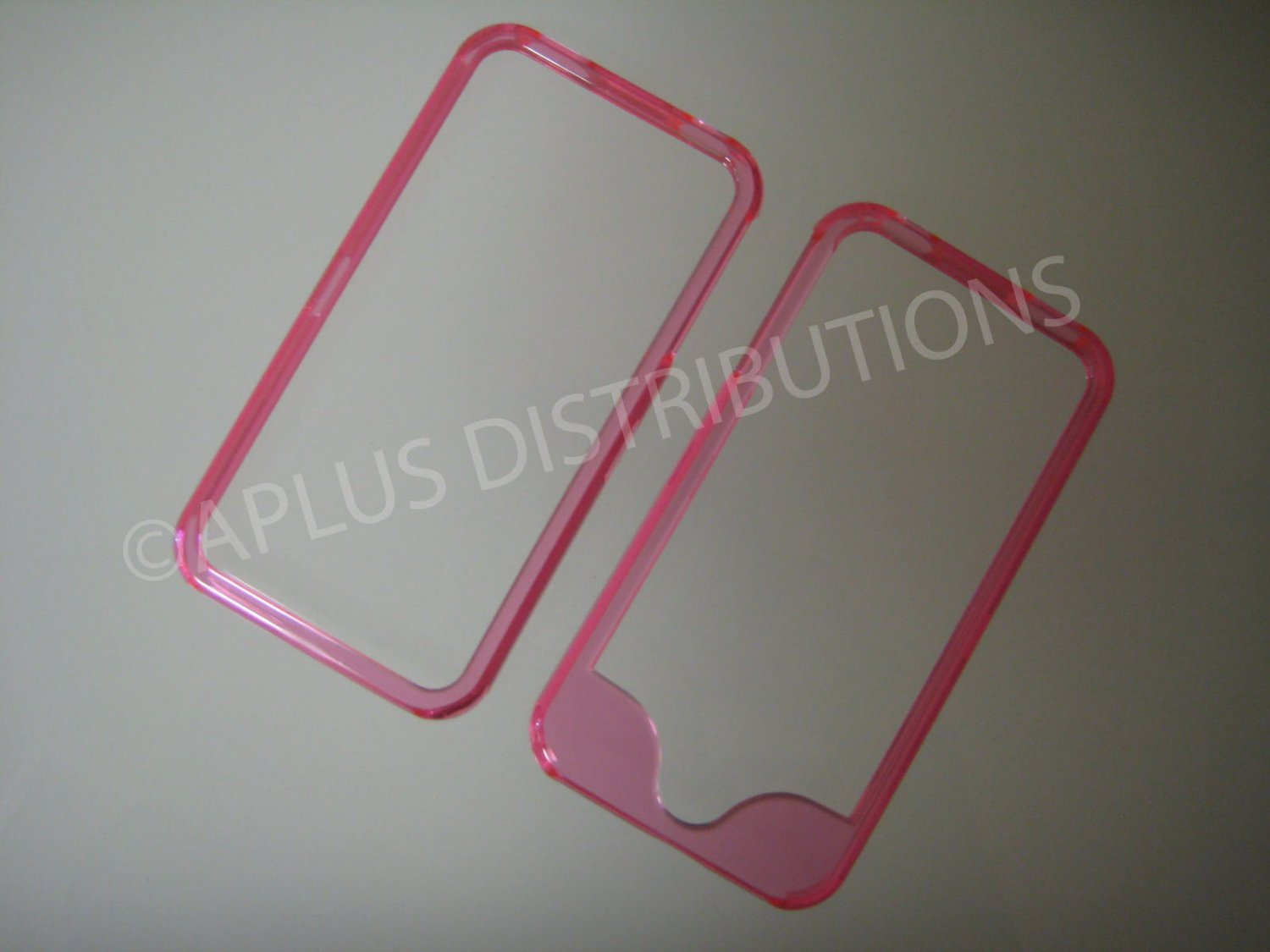 New Pink Bumper Design Hard Protective Cover For iPhone 4 - (0143)