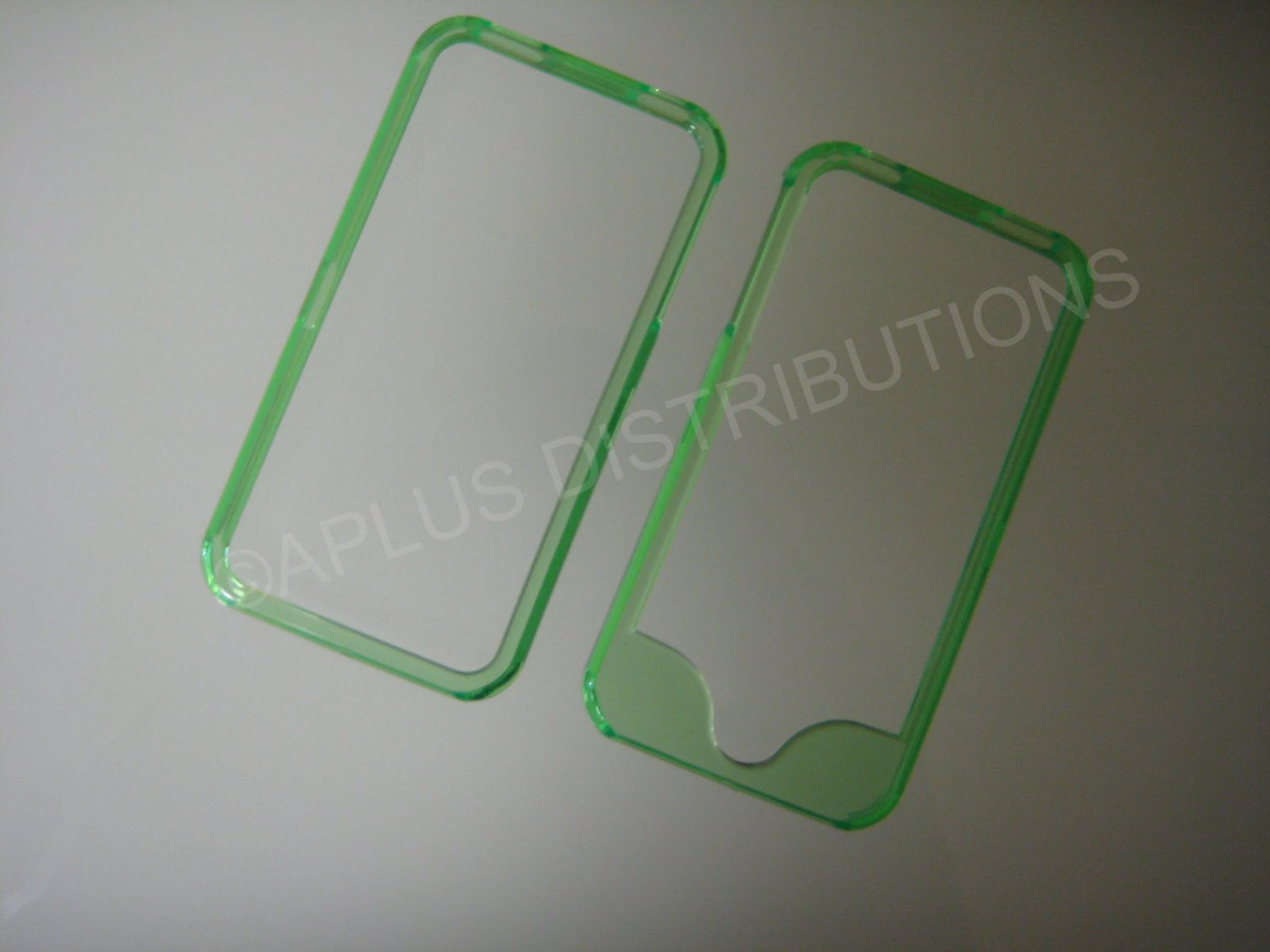 New Green Bumper Design Hard Protective Cover For iPhone 4 - (0144)
