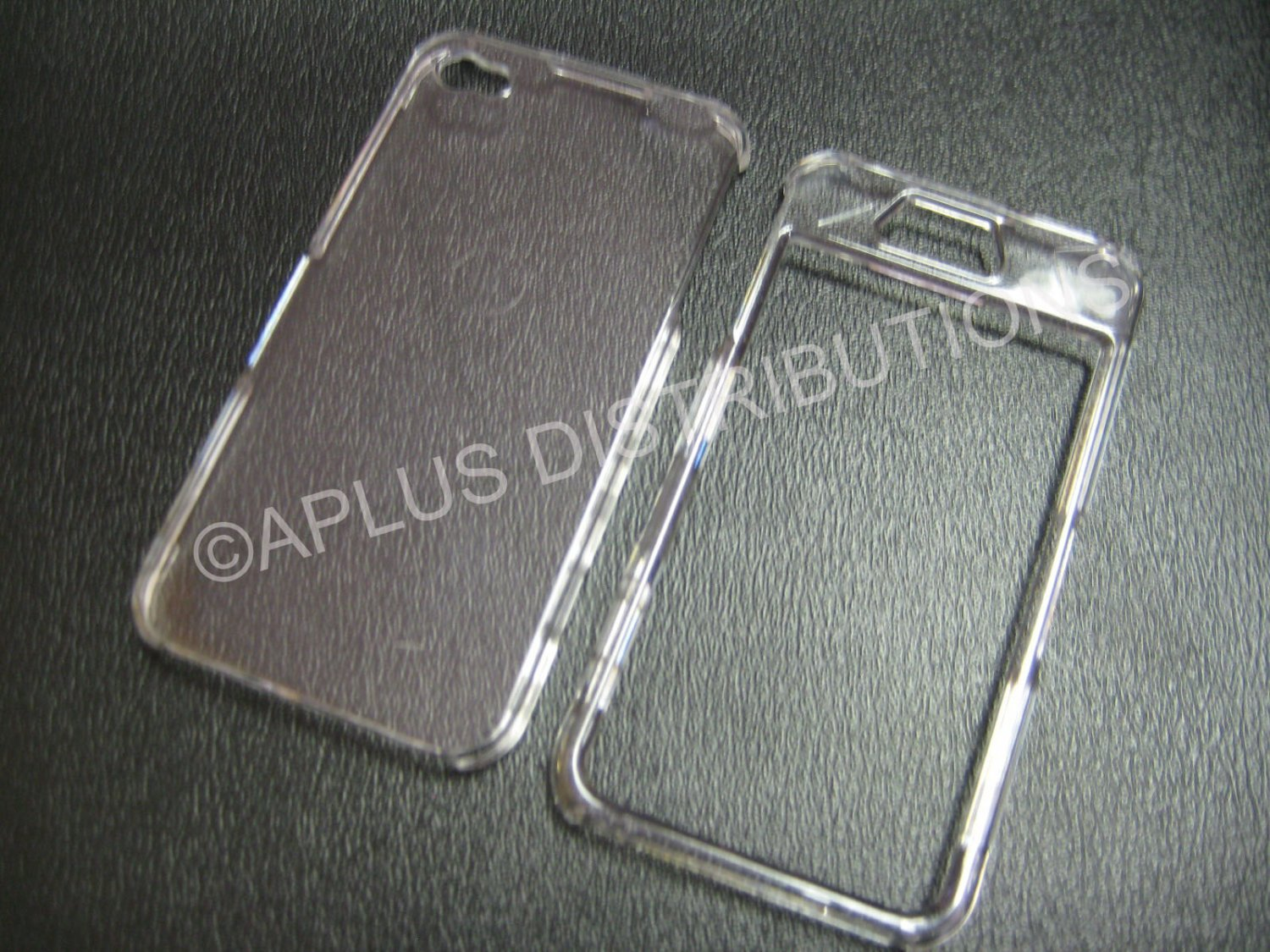 New Clear Transparent Solid Color Design Hard Protective Cover For iPhone 4 - (0145)