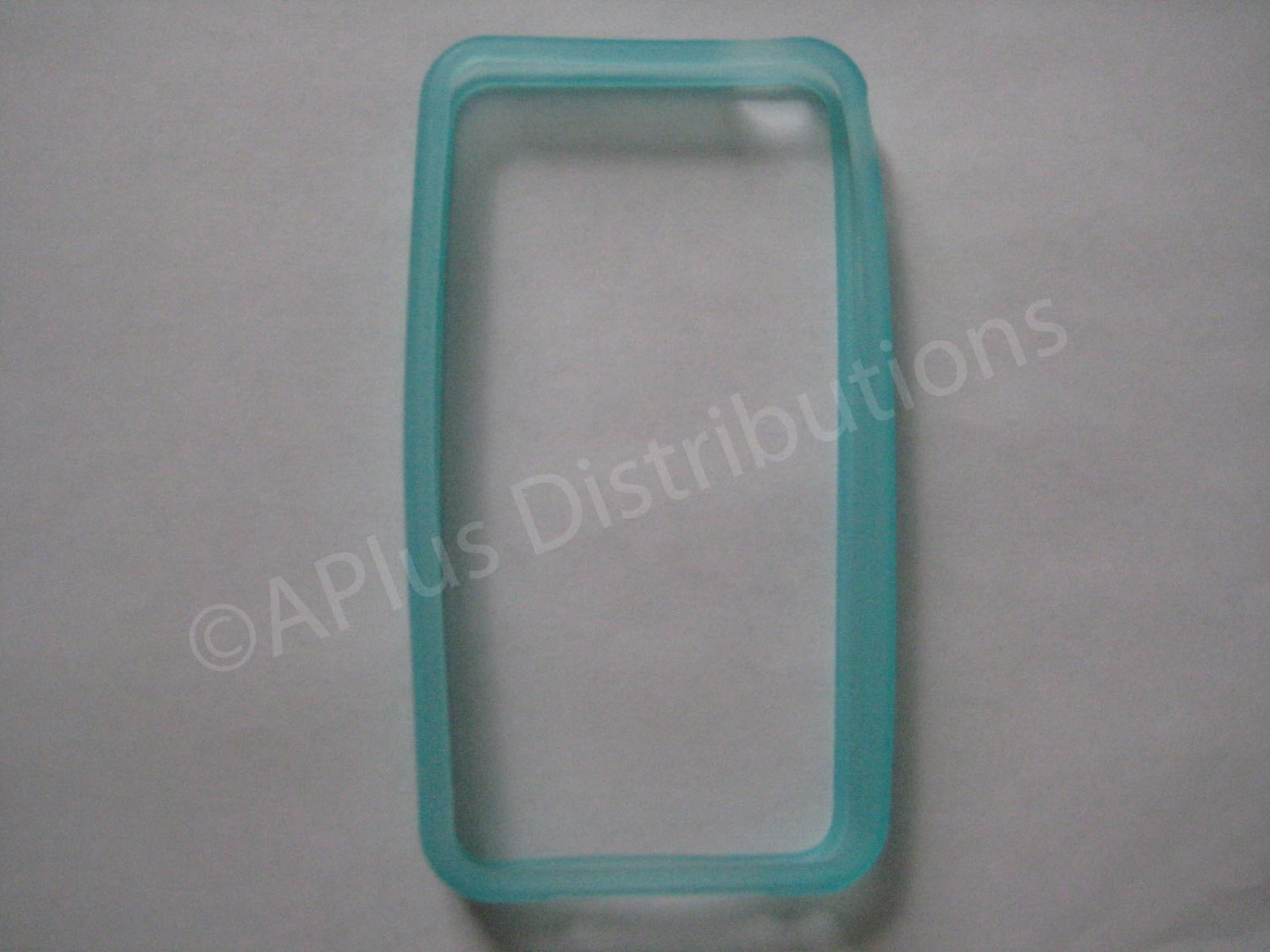 New Light Blue Bumper Design TPU Cover For iPhone 4 - (0052)