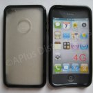 New Black Tpu/Soft Combo Design TPU Cover For iPhone 4 - (0059)
