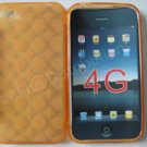New Orange Transparent Multi-Circles Design TPU Cover For iPhone 4 - (0045)