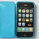 New Blue Transparent Multi-Circles Design TPU Cover For iPhone 4 - (0044)