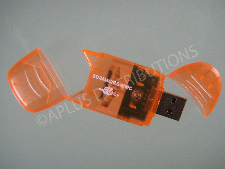 SD SDHC MMC Memory Card Reader 2.0 USB For 4G 8G 16G - ORN