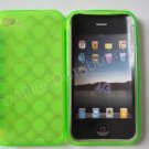 New Green Transparent Multi-Circles Design TPU Cover For iPhone 4 - (0035)