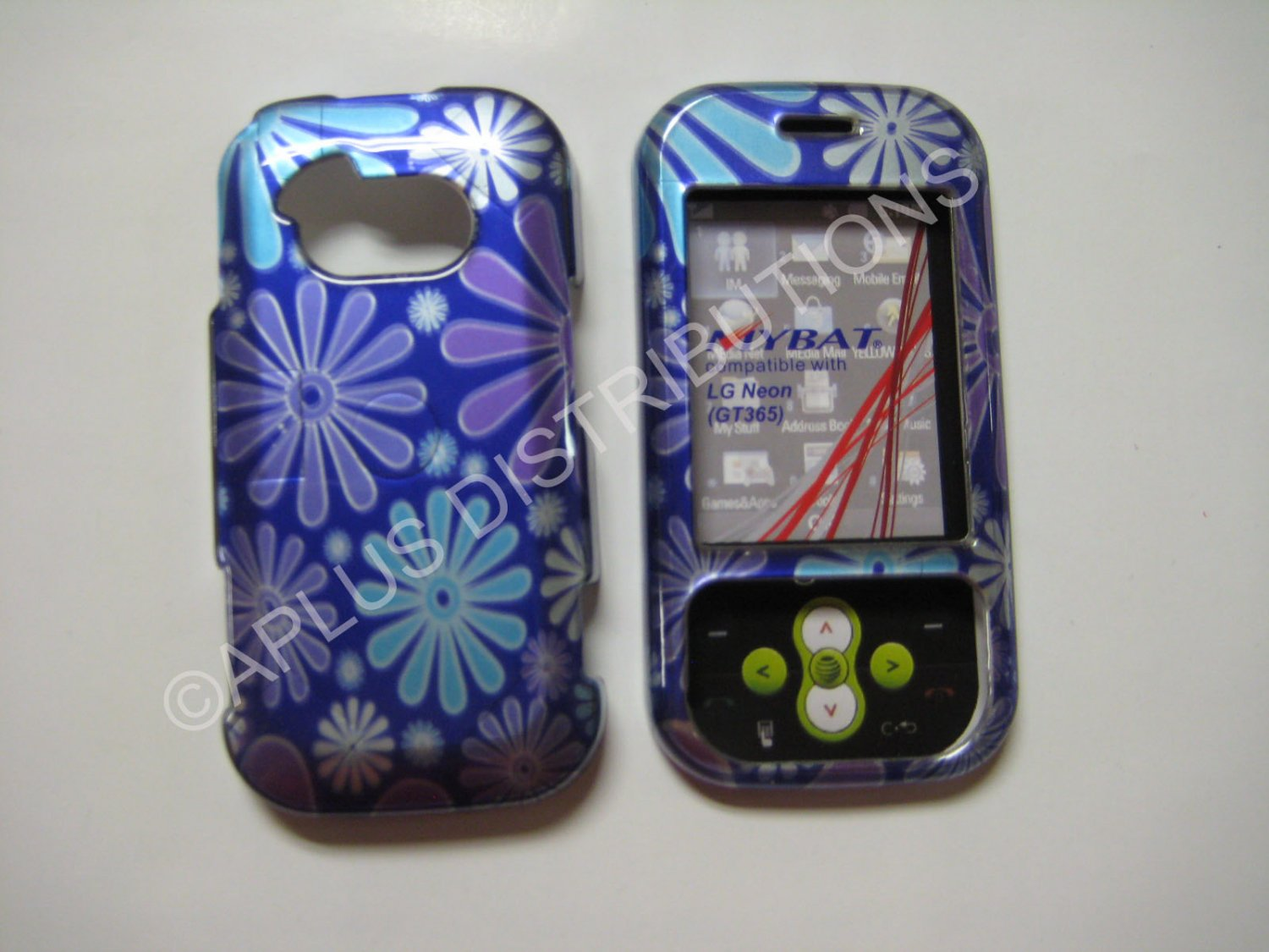 New Blue Flower Power Hard Protective Cover For LG Neon Gt365 - (0016)