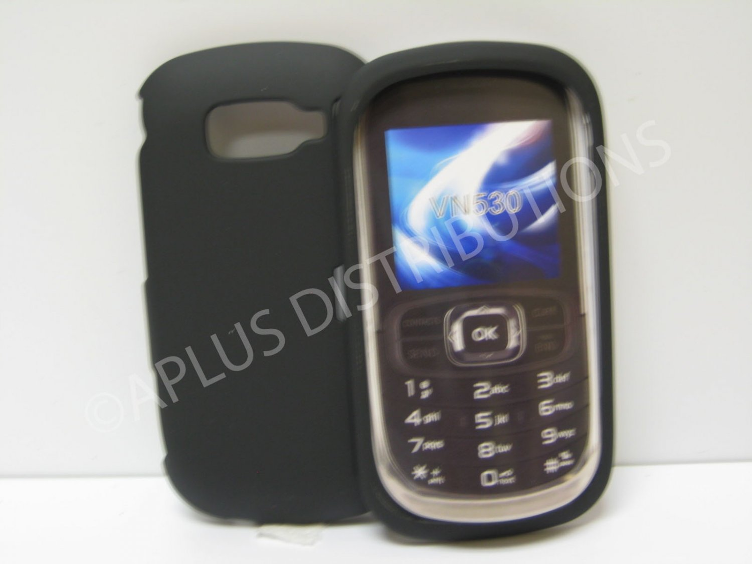 New Black Rubberized Hard Protective Cover For LG Octane Vn530 - (0051)