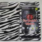 New Black Zebra Design Hard Protective Cover For Motorola Droid X MB810 - (0001)