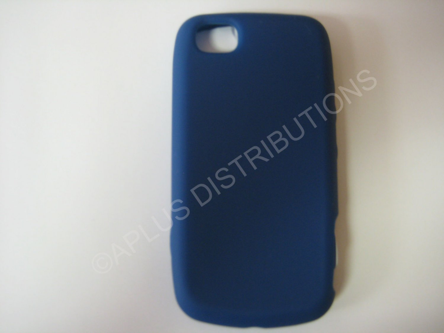 New Navy Blue Solid Color Silicone Skin Case For LG Sentio GS505 - (0019)