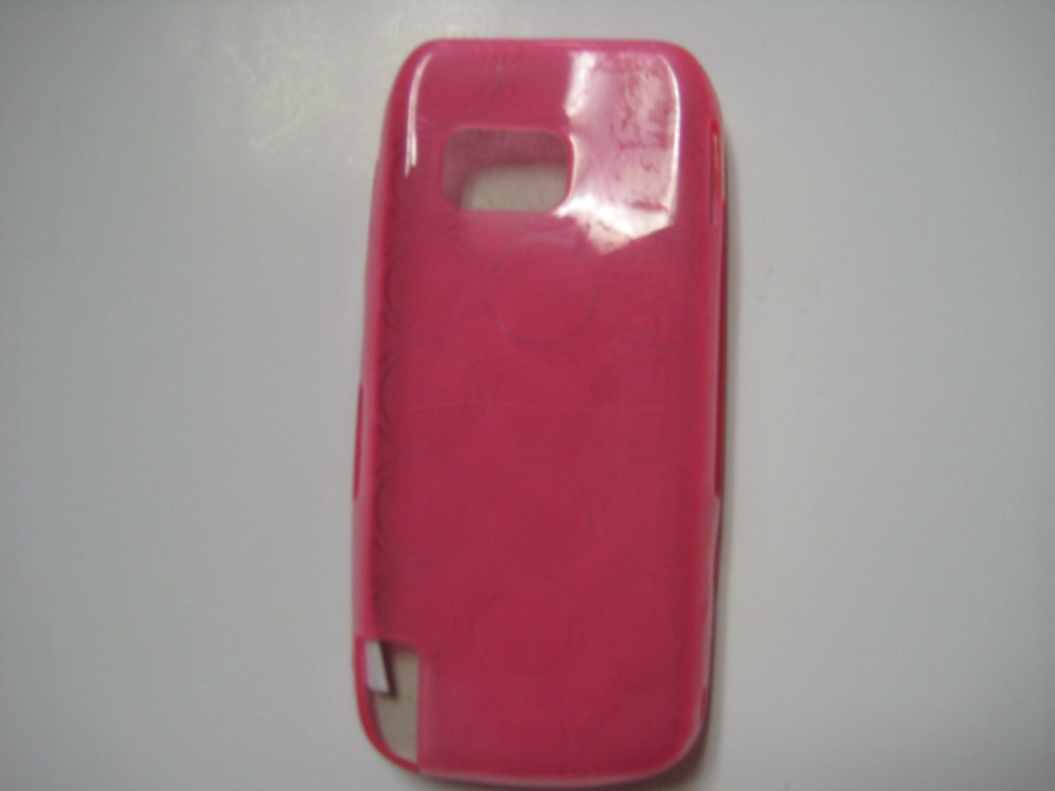 New Hot Pink Transparent Multi-Circles TPU Cover For Nokia Nuron 5230 - (0003)