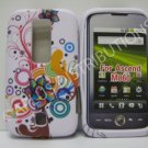 New Groovy Pinwheel Design TPU Cover For Huawei Ascend M860 - (0019)