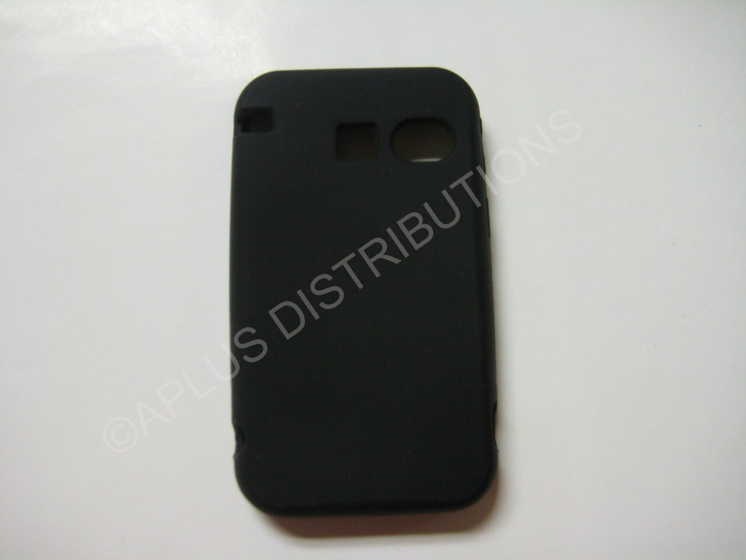 New Black Solid Color Silicone Skin Case Cover For SANYO SCP 2700 - (0006)