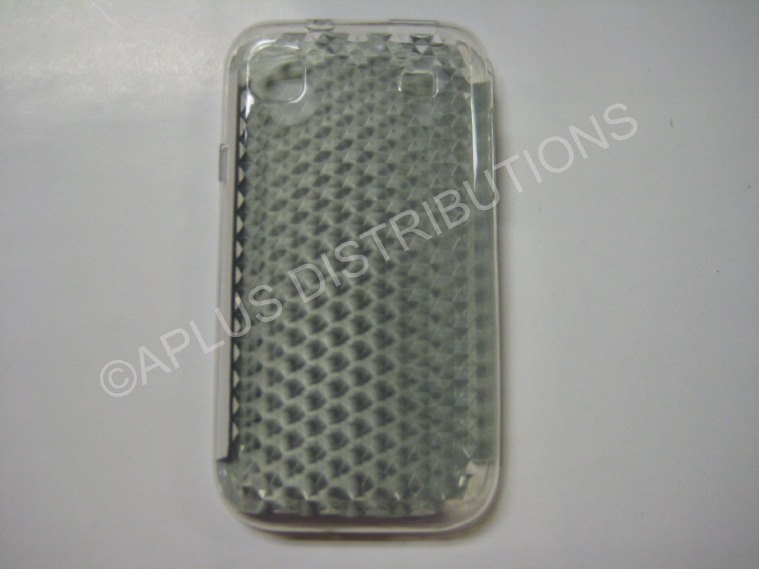 New Clear Diamond Cut Pattern TPU Cover For Samsung Galaxy S I9000 - (0011)