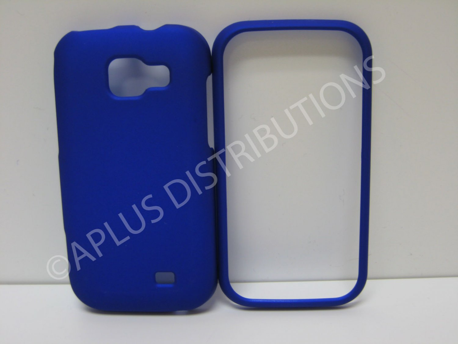 New Blue Rubberized Hard Protective Cover For Samsung Transform M920 - (0053)