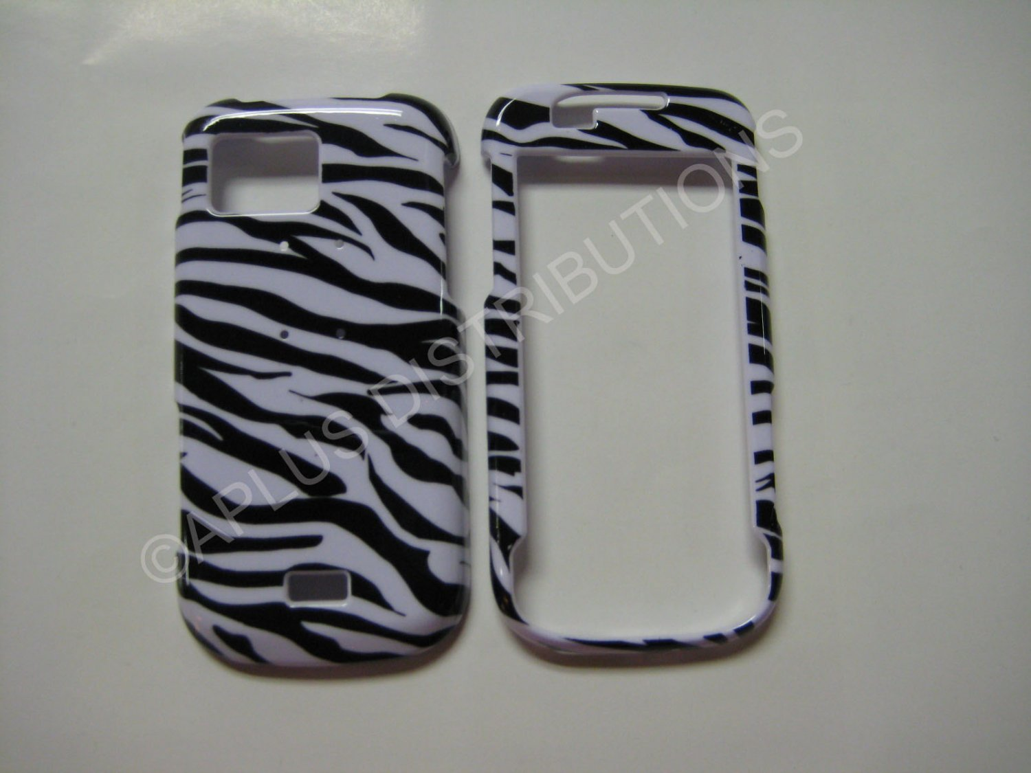 New Black Zebra Design Hard Protective Cover For Samsung Mythic A897 - (0001)