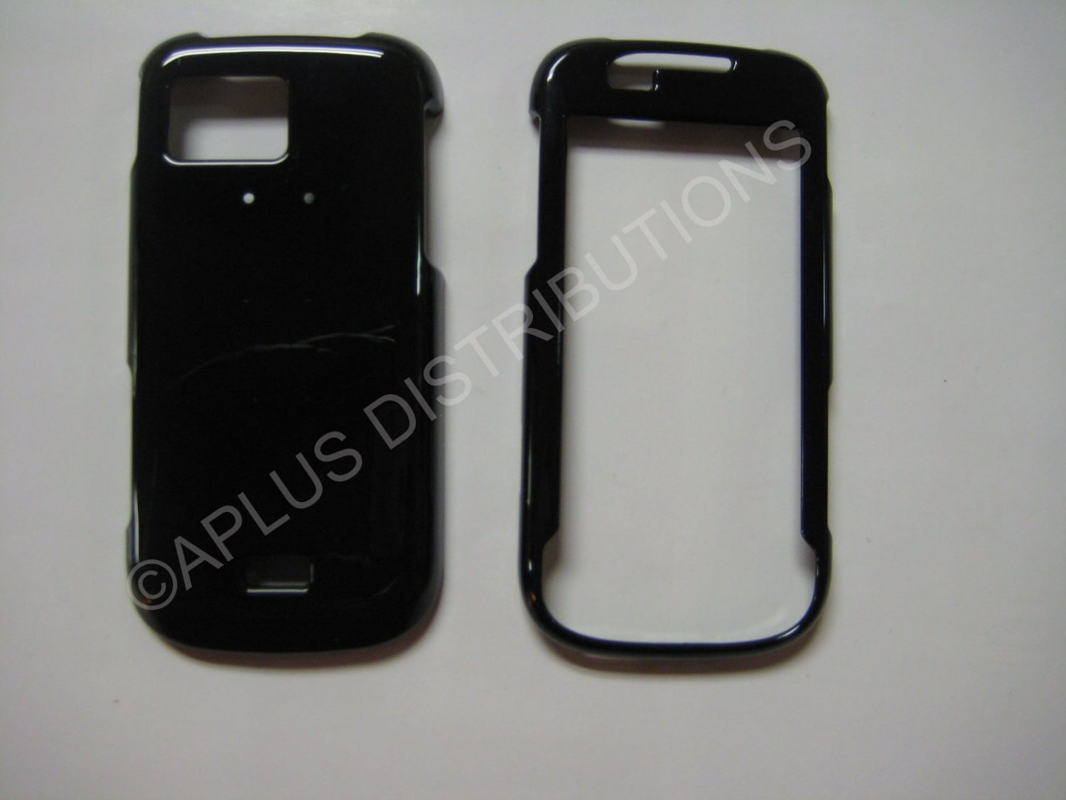 New Black Solid Color Hard Protective Cover For Samsung Mythic A897 - (0062)