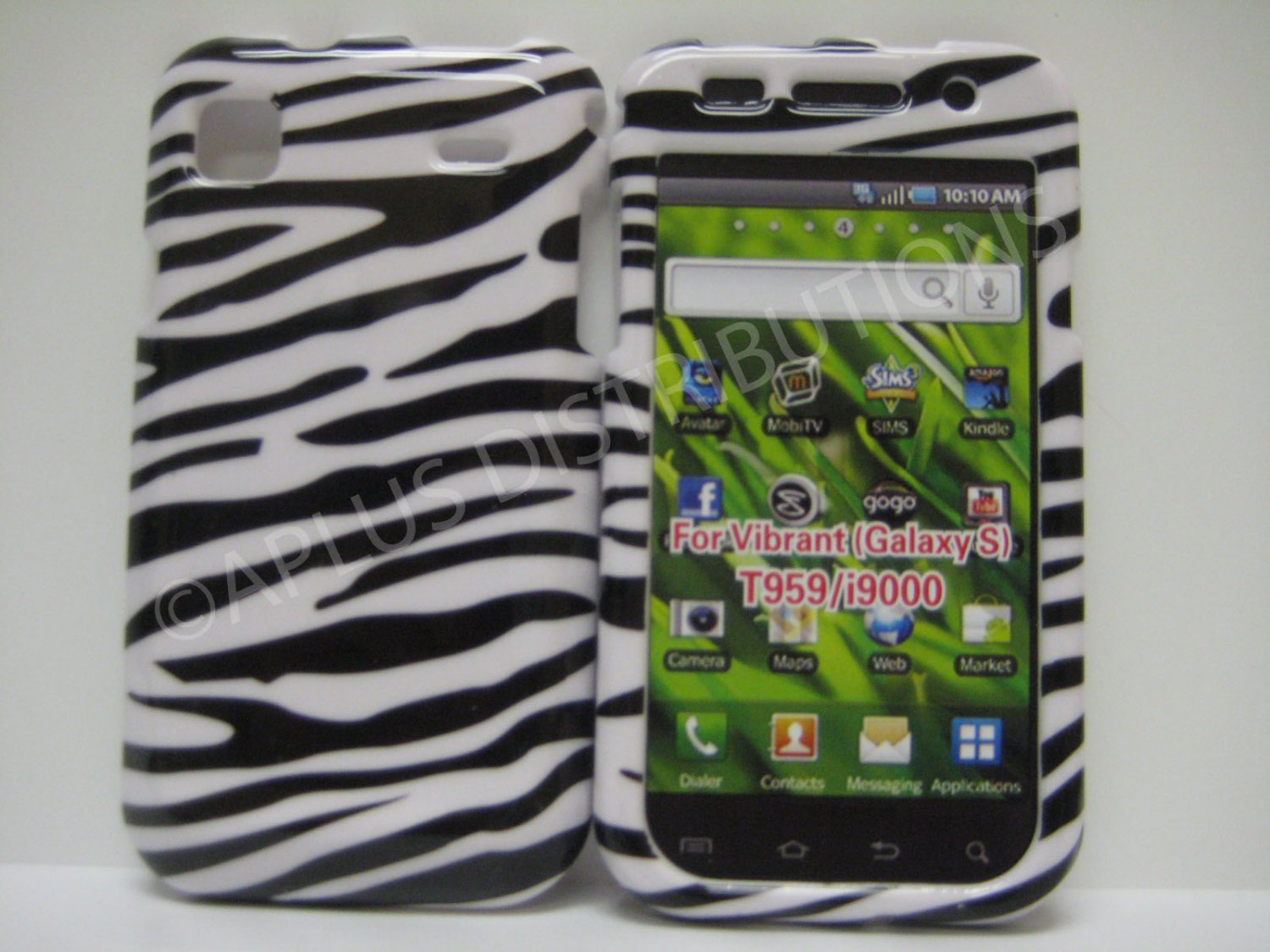 New Black Zebra Design Hard Protective Cover For Samsung Galaxy S I9000 - (0001)