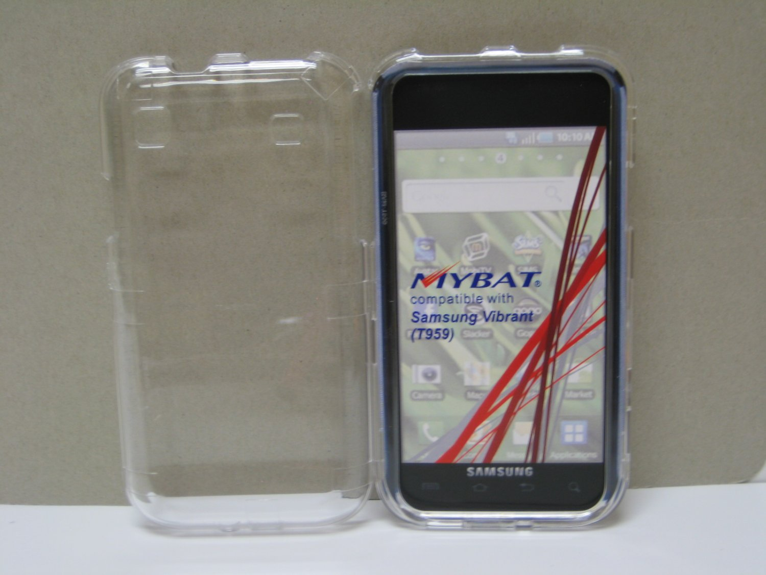 New Clear Transparent Hard Protective Cover For Samsung Galaxy S I9000 - (0059)