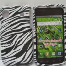 New Black Rubberized Zebra Design Hard Protective Cover For Samsung Galaxy S I9000 - (0070)