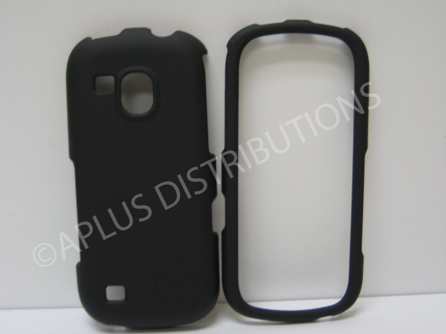New Black Rubberized Hard Protective Cover For Samsung Galaxy S Continuum - (0051)