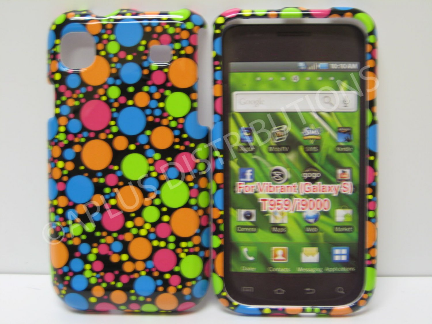 New Multi-Color Polk-A-Dots Hard Protective Cover For Samsung Galaxy S I9000 - (0029)
